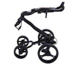 تصميم جديد عجلات 4 عجلات من الألومنيوم كهربائي قابل للطي عربة جولف صغيرة بسيطة جولف ذات دفع تروللى