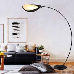 현대적인 노르딕 스타일의 독특한 Big Arc Wrouged Iron LED 바닥 거실 침실 공부용 램프
