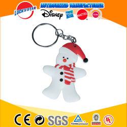 中国の工場クリスマスOEMのプラスチックPVC Keychain昇進のためのカスタムキーホルダーのキーホルダー