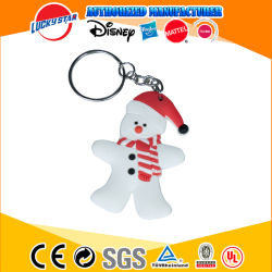 중국 공장 크리스마스 승진 선물 PVC Keychain 주문 열쇠 고리 열쇠 고리