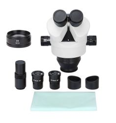7X-90X Simul ajuste focal Zoom Trinocular celular reparación reparador reloj estéreo microscopio (BM-400H)