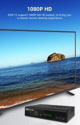 HEVC/H가 있는 DVB-T2 셋톱 박스 265 코덱 타임시프트 레드 HbbTV 와이파이 지원