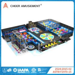 Cheer Amusement 1000m² Indoor Sports adultes Fun Park Trampoline commerciale pour l'intérieur du parc Aire de jeux