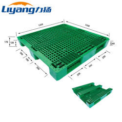 China Factory Supply OEM Service Food Grade HDPE Plastic Materials 1200X1200 Euro Pallet met 3 hardlopers