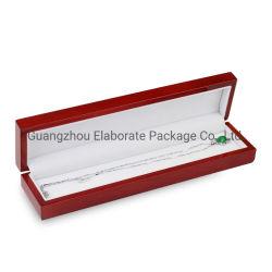 Hersteller-Qualitäts-Glanz-glänzende festes Holz-Schmucksache-langer Armband-Ketten-Kasten