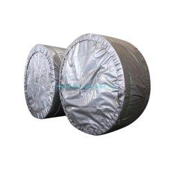 Haut de la courroie du convoyeur en caoutchouc noir renforcé spécial pour l'usine d'alimentation