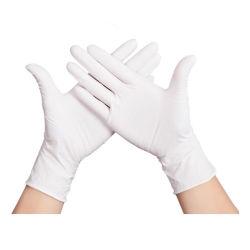 Großhandelsqualitäts-blauer Sicherheits-Schutz-Latex-Wegwerfhandhandschuhe