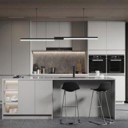 لوحة الباب المطلية لوحة الجسيمات غرفة المطبخ الفاخرة الحديثة