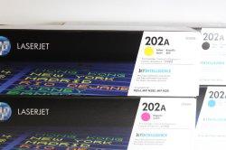 高品質な高ページ原稿トナーカートリッジ 202A (CF500A/CF501A/CF502A/CF503A) HP LaserJet PRO M254 M281cdw M281dw