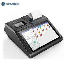 """Originele Fabriek 10.1 """" Draadloze Androïde /Windows POS Terminal met 80mm Printer /NFC"""