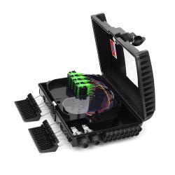 屋内 / 屋外用 8 16 コア / ポート ABS FDB NAP FTTH 壁 スプリッタミニプラスチックボックス光ファイバ / 光ケーブル分配端子を取り付けます ボックスをクリックします