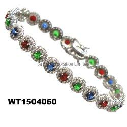 Venda a quente bracelete de Design de Moda de pedras coloridas Jóias