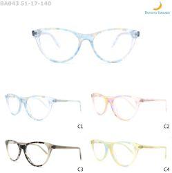 2020 Châssis Lateast Lamination Ba043 Femme Fashion acétate Lunettes optiques
