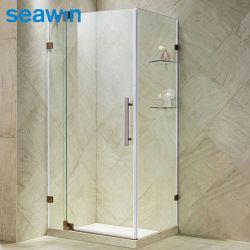 Cerco retangular do chuveiro do vidro Frameless do banheiro do pivô