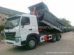 중고 덤프 트럭 8X4 HOWO Sinotruk 초핸드 덤퍼 트럭 중국 중부하 작업용 트럭, 12륜 50톤 경쟁 최고의 조건 용량