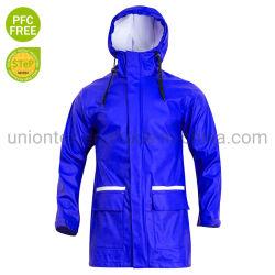 Blauer Form-Entwurf der Männer wasserdichtes Kleid PU-Uban