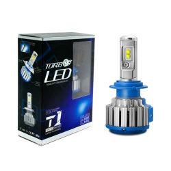 T1 H4 Turbo LED Scheinwerfer Kit 50W 6000lm H1 H3 H7 H8 H9 H11 HB3 HB4 Fun LED-Lampe Nebelscheinwerfer-Antriebskit Lampada Farol Bombillo Luz LED Focos LED-Kit Auto LED