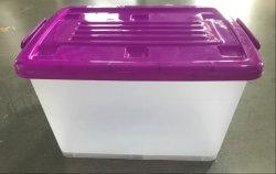 Het kleine Plastiek van de Doos van de Opslag van de Lade van de Kleren van het Kabinet van de Opslag Plastic Stapelbare voor de Opslag van het Huis Boxes&Bins 45L
