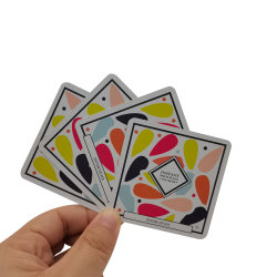 Impressão personalizada de superfície de tecido Diagrama de borracha não ou bebida Poker Caixa Formador Trocando cartões Game