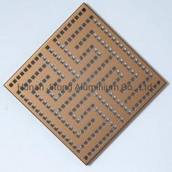 Het houten Blad van het Aluminium van de Korrel Kleur Met een laag bedekte