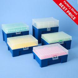 10UL 50UL 100UL avec filtre de pointes de pipettes de fournitures médicales jetables Lab Pointes de pipettes blanc avec filtre