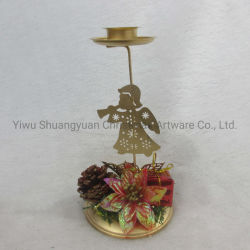 Navidad Decoración de velas de hierro con Angel Estrella de la torre de Casa de Vacaciones Fiesta de Bodas Decoración ornamento gancho regalos artesanales