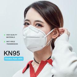 Il doppio della mascherina KN95 certifica l'anti virus del respiratore maschera di protezione protettiva di sicurezza a gettare di 5 strati