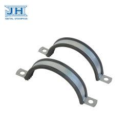Anelli spaccati galvanizzati dell'acciaio con la gomma del PVC