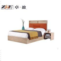 Almacenamiento de alta simple cama con tela naranja