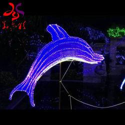 クリスマスの休日のテーマパーク3Dのイルカの屋外のための装飾的な青LEDによってつけられるライト
