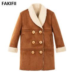 Fakifii 2021 Newest Style Plaid bébé fille daim fashion robe veste pour des vêtements décontractés formelle d'hiver