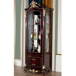 Commerce de gros classique en bois sculpté armoire à vin dans le mobilier de couleur en option