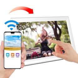 Usine de gros de l'écran tactile ultra mince 10.1 pouces WiFi Smart Cloud Cadre photo numérique