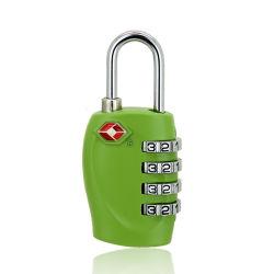 الترويج المزيد الأمان 4 أرقام تأمين السفر لمجموعة TSA لـ حقيبة أمتعة وحقيبة TSA قفل قفل قفل لون زنك مخصص و الشعار