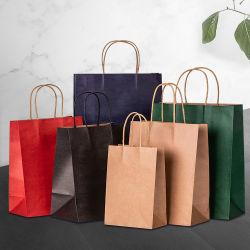 Eco Friendly Promotional Brown Kraft Paper Shopping Bag Printing