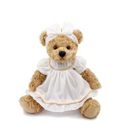 لطيف بيبي الدب تيدي ثوب جميل وثير الدب تيدي ثوب أبيض دمى دب لحفلة زفاف