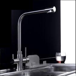304 الحنفية لتنقية المياه من الفولاذ المقاوم للصدأ شرب المياه 3 اتجاهات المطبخ بماء نقي