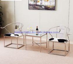 Hotel Rebites Retro Vaca Ocultar Couro Mobiliário casual para cadeiras de jantar