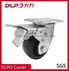Dlpo Hochleistungsfußrollen-antistatische materielle Räder mit Bremse