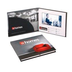 Pantalla LCD de 7 pulgadas de pantalla de vídeo digital de tapa dura Folleto de Bolsillo con reproductor de MP4