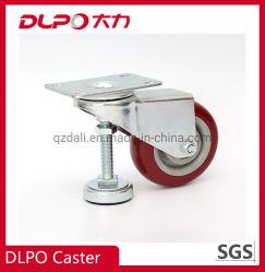 3media pulgada de poliuretano con tazas de rueda Ajustable mecánica Caster