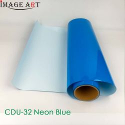 Transferencia de calor de alta calidad coreano Film/PVC/Flex PU para T-Shirt/Ropa/tejido de la impresión de CDU-32 Neon Blue