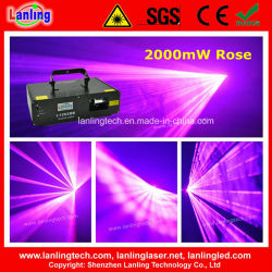 2W Роуз свадебные мероприятия DJ диско-участник лазерного воздействия света