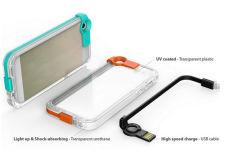 Tas voor mobiele telefoons/Fundas PARA-cellulair met USB-kabel voor IPhone 6