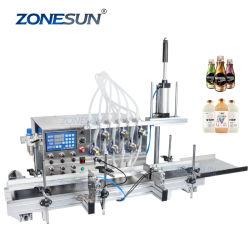 Las boquillas de seis Zonesun licor bebidas jugos vinagre Aceite esencial de la leche de tóner de perfume de la Mesa de la máquina de llenado