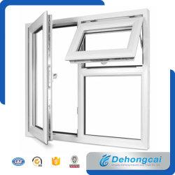 Wit China Standaard Upvc / Pvc Plastic Frame Dubbel Glas Venster