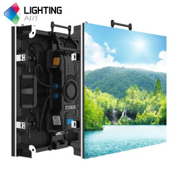 P3.91 da turbina Video wall de bicicleta Ecrãs LED Solução de eventos ao ar livre