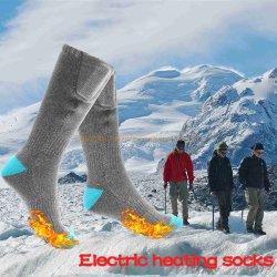 Chaussettes de chauffage électrique pied d'hiver plus chaud 3,7 V Batterie rechargeable pour Hommes Femmes froid aux pieds de la chasse Camping Ski Hiver adultes chaussettes de coton de gros thermique