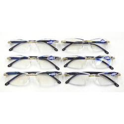 Randlose Lesebrille für Frauen, leichte Spring Hinge Readers, klassisch elegante künstlerische Brillen