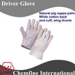 Napa natural de cerdo blanco de algodón, Palma y el manguito, Ala pulgar del guante del controlador de cuero